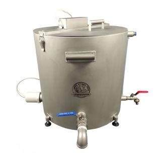 Домашняя автоматическая сыроварня Перваченко 40 л с сенсорным управлением и сливным краном