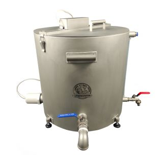 Домашняя автоматическая сыроварня Перваченко 40 л со сливным краном (на тележке)