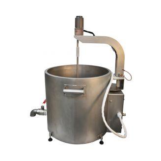 Домашняя автоматическая сыроварня Перваченко 55 л со сливным краном (на тележке)
