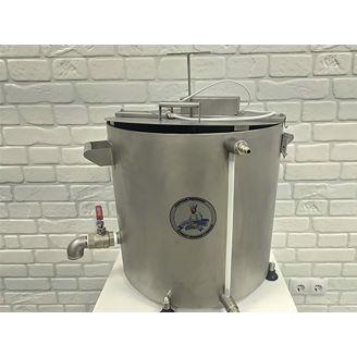 Домашняя автоматическая сыроварня Перваченко 20 л с сенсорным управлением и сливным краном (на тележ