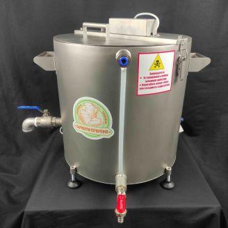 Домашняя автоматическая сыроварня Перваченко 30 л с сенсорным управлением и сливным краном (на тележ